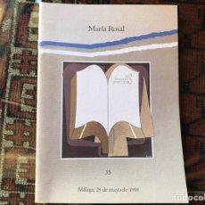 Libros de segunda mano: MARÍA ROSAL. LAS LECTURAS POÉTICAS (35).. Lote 178395783