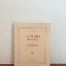 Libros de segunda mano: CAHIERS 1894-1914 (I) - PAUL VALÉRY - GALLIMARD. Lote 178402825