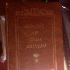 Libros de segunda mano: RUBÁIYÁT DE OMAR KHAYYÁM EDWARD FITZGERALD EDMUN J.SULLIVAN,LIBRO EN INGLES,PERSIA. Lote 178683516