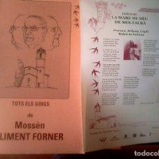 Libros de segunda mano: CLIMENT FORNER - TOTS ELS GOIGS DE MOSSÈN CLIMENT FORNER (82 GOIGS) (CATALÁN). Lote 179180926