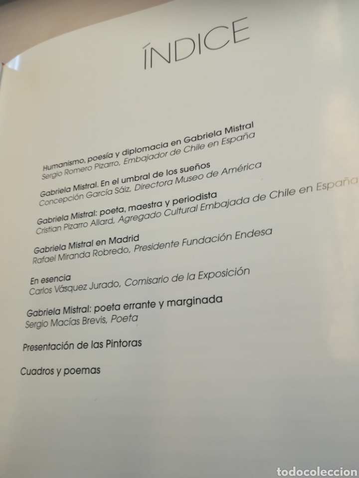 Libros de segunda mano: Gabriela Mistral Chile 2010 año del Bicentenario tapa dura con sobrecubierta - Foto 2 - 179385391