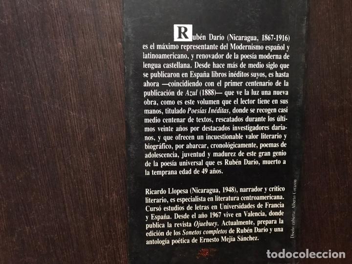 Libros de segunda mano: Rubén Darío. Poesías inéditas. Visor - Foto 2 - 180150797