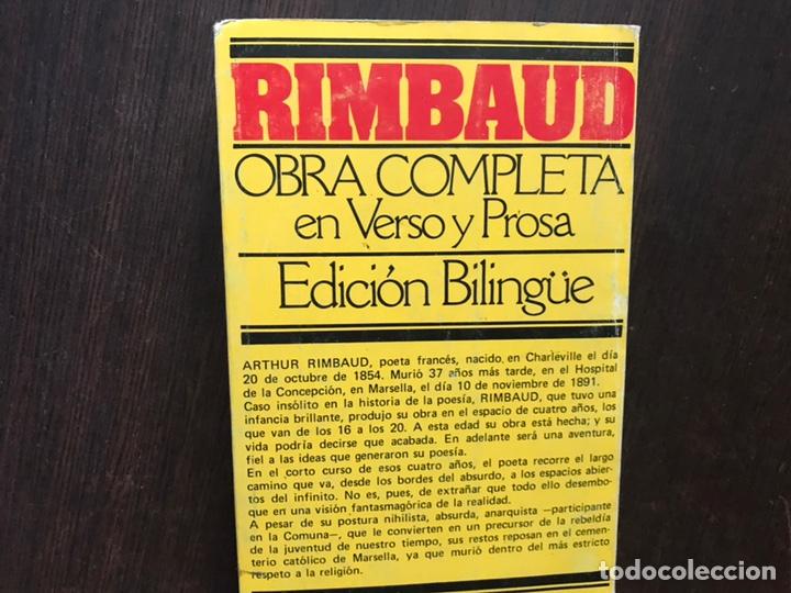 Libros de segunda mano: Rimbaud. Obra completa en verso y prosa. Edición bilingüe - Foto 2 - 180150915