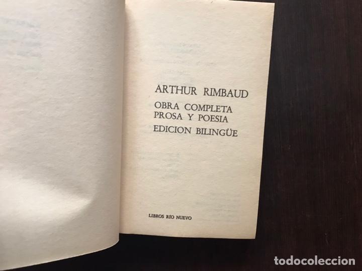 Libros de segunda mano: Rimbaud. Obra completa en verso y prosa. Edición bilingüe - Foto 4 - 180150915