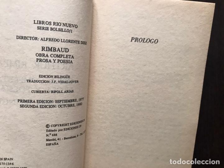 Libros de segunda mano: Rimbaud. Obra completa en verso y prosa. Edición bilingüe - Foto 5 - 180150915