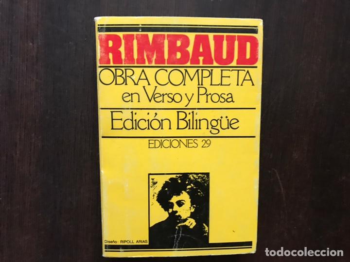 RIMBAUD. OBRA COMPLETA EN VERSO Y PROSA. EDICIÓN BILINGÜE (Libros de Segunda Mano (posteriores a 1936) - Literatura - Poesía)