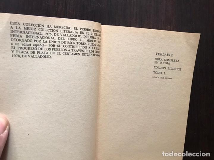 Libros de segunda mano: Verlaine. Obra poética completa. Edición bilingüe. Dos libros - Foto 4 - 180150982