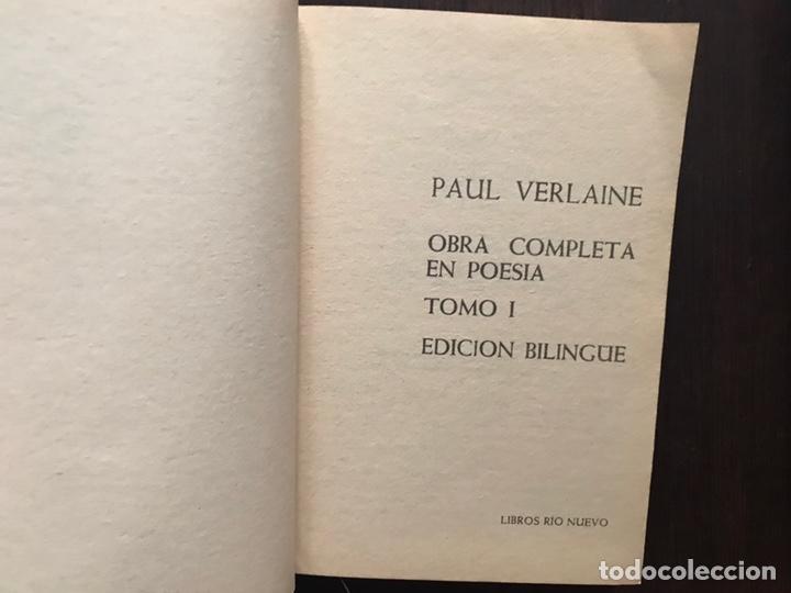 Libros de segunda mano: Verlaine. Obra poética completa. Edición bilingüe. Dos libros - Foto 5 - 180150982