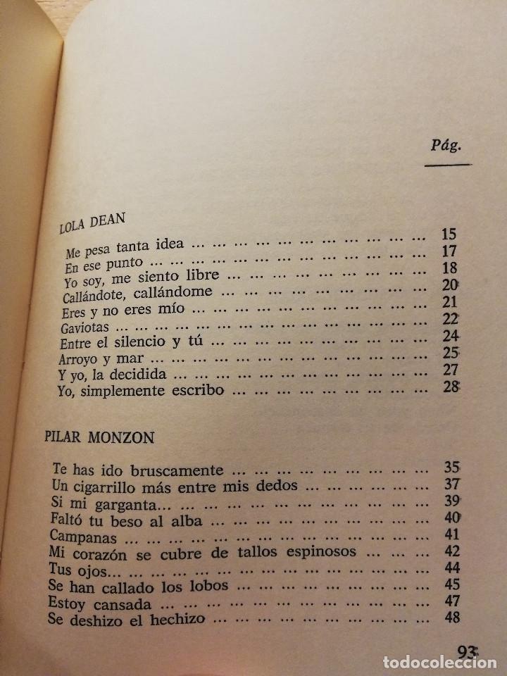 Libros de segunda mano: POEMAS (PRIMERA SELECCIÓN DE NUEVAS VOCES) LOLA DEAN - PILAR MONZÓN - AMARANTA ORTEGA ... - Foto 3 - 180175136