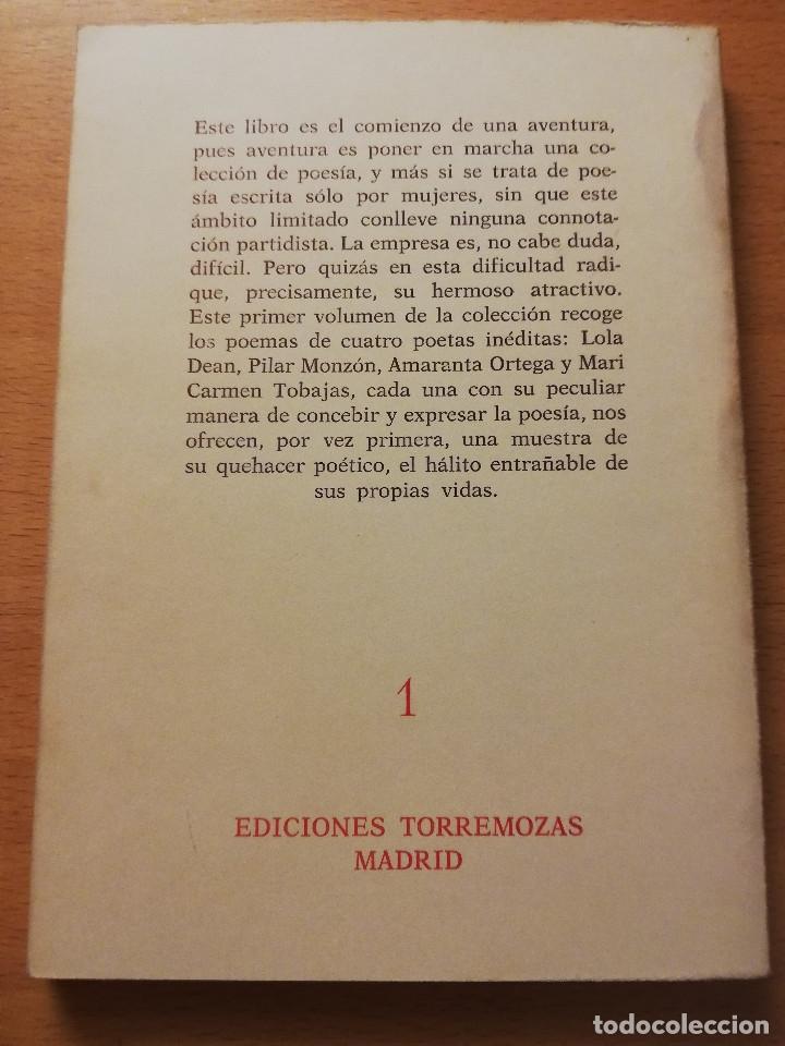 Libros de segunda mano: POEMAS (PRIMERA SELECCIÓN DE NUEVAS VOCES) LOLA DEAN - PILAR MONZÓN - AMARANTA ORTEGA ... - Foto 5 - 180175136