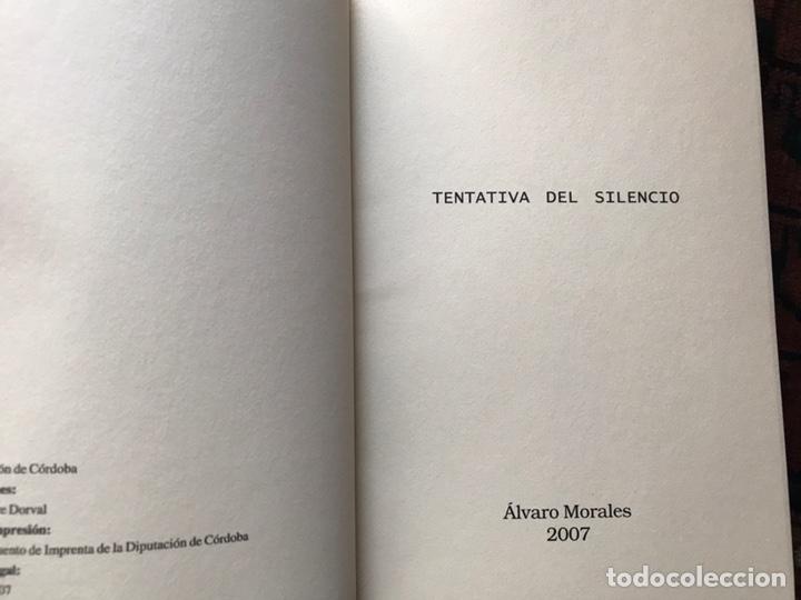 Libros de segunda mano: Tentativas del silencio. Alvaro Morales. Como nuevo - Foto 3 - 180245593