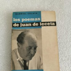 Libros de segunda mano: LOS POEMAS DE JUAN DE LECETA,CELAYA, GABRIEL, 1961. Lote 183660818