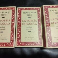 Libros de segunda mano: LA POESÍA ESPAÑOLA, ANTOLOGÍA COMENTADA FRANCISCO RICO. Lote 183931043