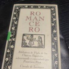 Libros de segunda mano: ROMANCERO. Lote 183934298