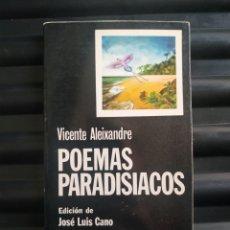 Libros de segunda mano: POEMAS PARADISIACOS. Lote 184491035
