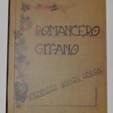 Libros de segunda mano: ROMANCERO GITANO - FEDERICO GARCÍA LORCA - EDICIÓN FACSÍMIL ATENEO ZARAGOZA 2008 - A MANO. Lote 185920820