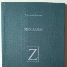 Libros de segunda mano: ANTONIO RESECO: GEOGRAFÍAS. Lote 186226612