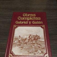 Libros de segunda mano: OBRAS COMPLETAS I GABRIEL Y GALÁN MUSA. Lote 186228372
