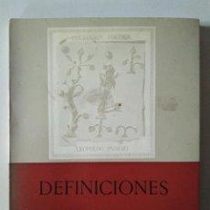 Libros de segunda mano: ANGÉLICA BECKER: DEFINICIONES. FIRMADO Y DEDICADO POR LA AUTORA. Lote 186272101