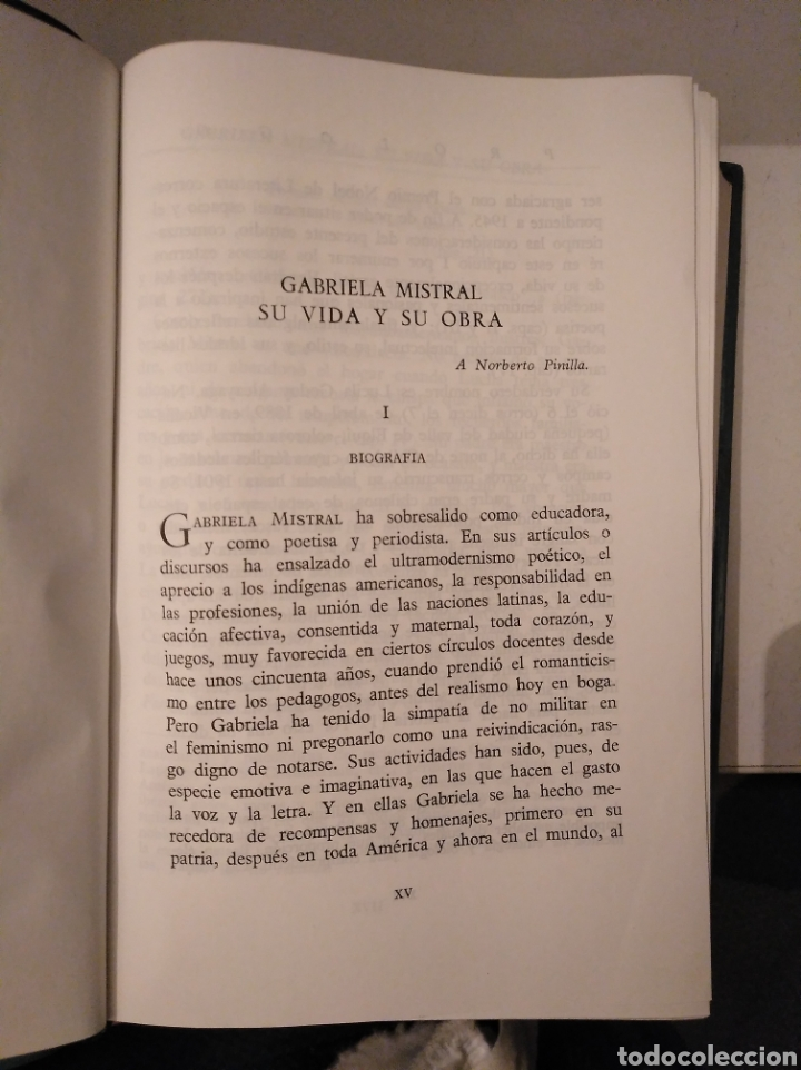 Libros de segunda mano: Poesías completas. Nobel 1945. Gabriela mistral. desolación; Ternura; tala; lagar. Aguilar - Foto 3 - 186298387