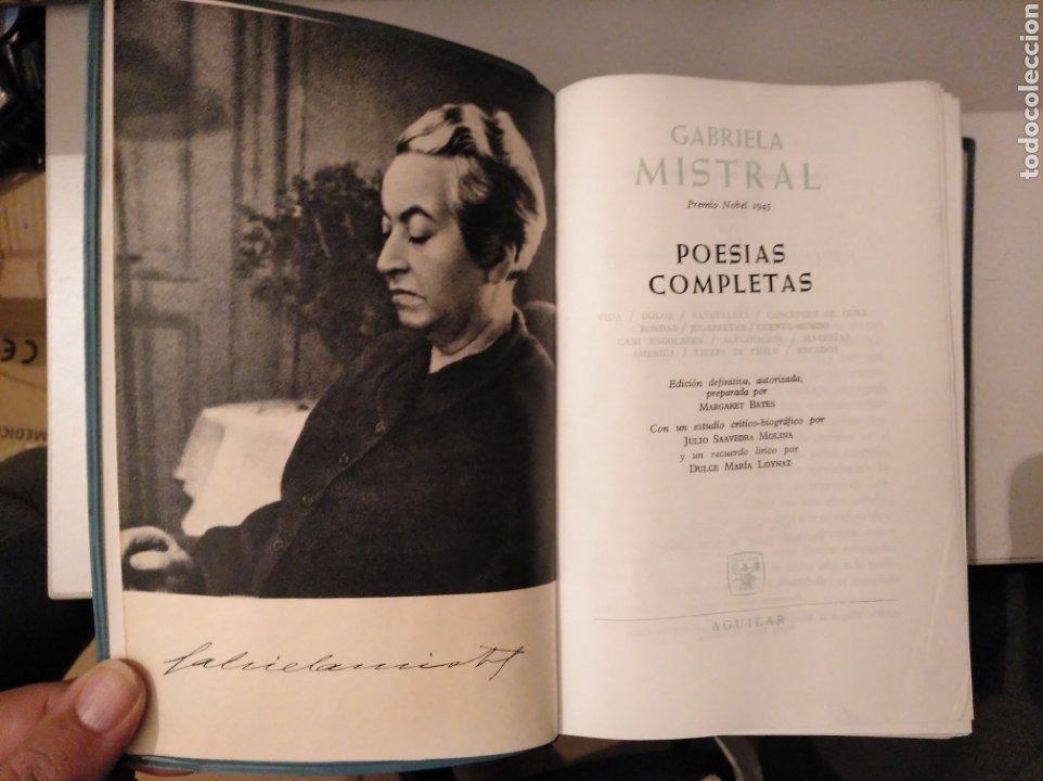 POESÍAS COMPLETAS. NOBEL 1945. GABRIELA MISTRAL. DESOLACIÓN; TERNURA; TALA; LAGAR. AGUILAR (Libros de Segunda Mano (posteriores a 1936) - Literatura - Poesía)