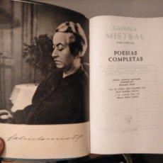 Libros de segunda mano: POESÍAS COMPLETAS. NOBEL 1945. GABRIELA MISTRAL. DESALACIÓN; TERNURA; TALA; LAGAR. AGUILAR. Lote 186298387