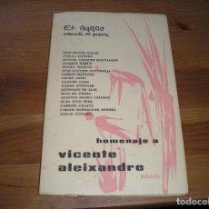 Libros de segunda mano: HOMENAJE A VICENTE ALEIXANDRE.- JOSÉ MIGUEL ULLÁN Y TROS.- EL BARDO,Nº , 1ª ED. SEPTIEMBRE 1964 . Lote 186309798