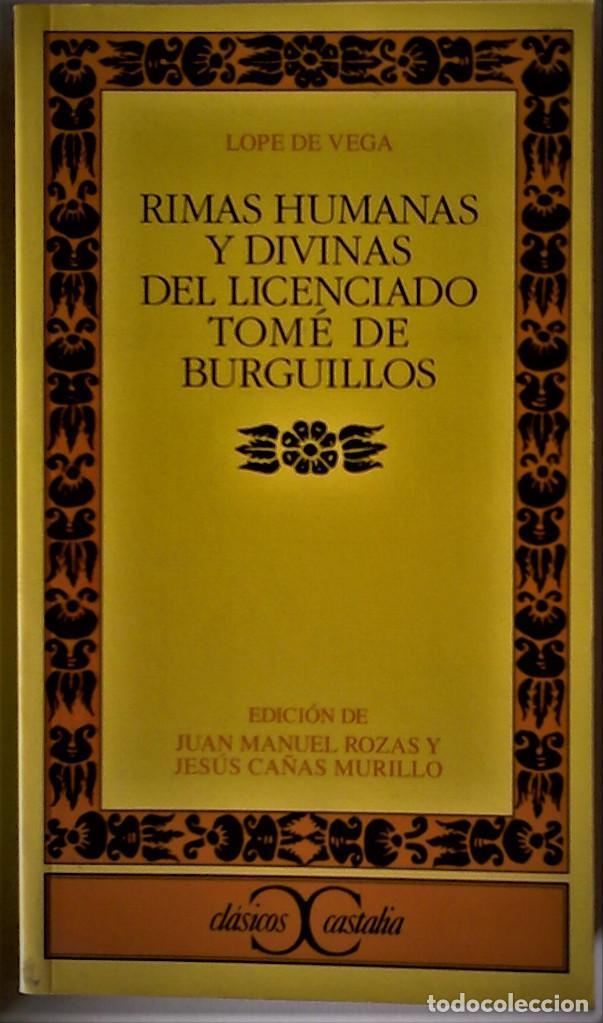 Lope De Vega Rimas Humanas Y Divinas Del Lice Vendido En Venta Directa 189099033