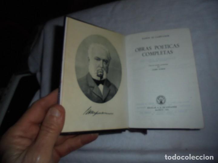 Libros de segunda mano: CAMPOAMOR OBRAS POETICAS COMPLETAS.EDICIONES AGUILAR MADRID 1951.6ª EDICION.ESTUDIO PRELIMINAR DE - Foto 6 - 189386766