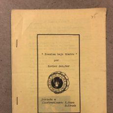 Libros de segunda mano: POESÍAS BAJO TIERRA POR XABIER SABATER (EDICIONES SIN COMPLEJOS 1973). FANZINE ORIGINAL ILUSTRADO. Lote 191169202