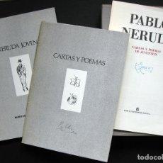 Libros de segunda mano: PABLO NERUDA. CARTAS Y POEMAS DE JUVENTUD. Lote 192058635