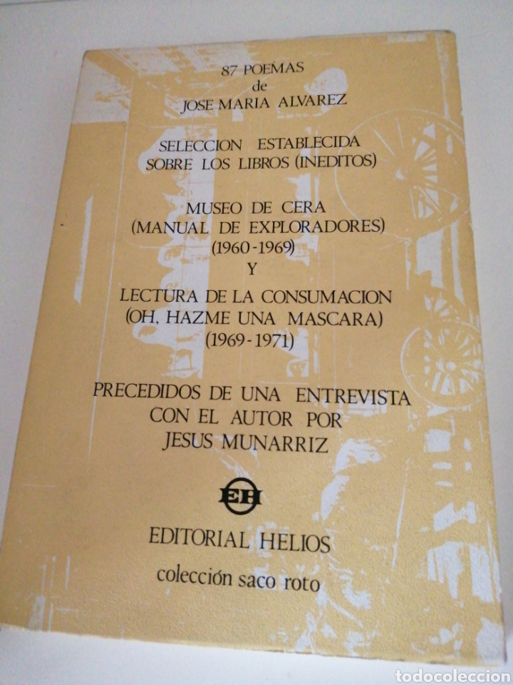 87 POEMAS DE JOSÉ MARÍA ÁLVAREZ (Libros de Segunda Mano (posteriores a 1936) - Literatura - Poesía)