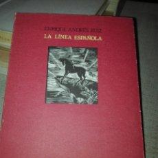 Libros de segunda mano: LA LÍNEA ESPAÑOLA. ENRIQUE ANDRÉS RUIZ. ALCALÁ. POESÍA. 1991. Lote 193451585