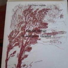 Libros de segunda mano: LÓPEZ ANGLADA, LUIS MEMORIAL DE ANTIGUOS VIENTOS TALAVERA DE LA REINA. 1986. POESÍA. Lote 193804948