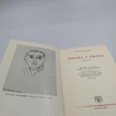 Libros de segunda mano: POESÍA Y PROSA. VICENTE HUIDOBRO. AGUILAR. Lote 206967700