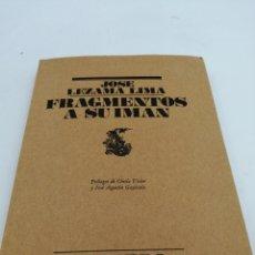 Libros de segunda mano: FRAGMENTOS A SU IMAN JOSÉ LEZAMA LIMA COLECCIÓN EL BARDO. Lote 194011371