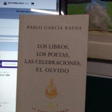Libros de segunda mano: PABLO GARCÍA BAENA. LOS LIBROS... HUERGA Y FIERRO 1995. Lote 194218630