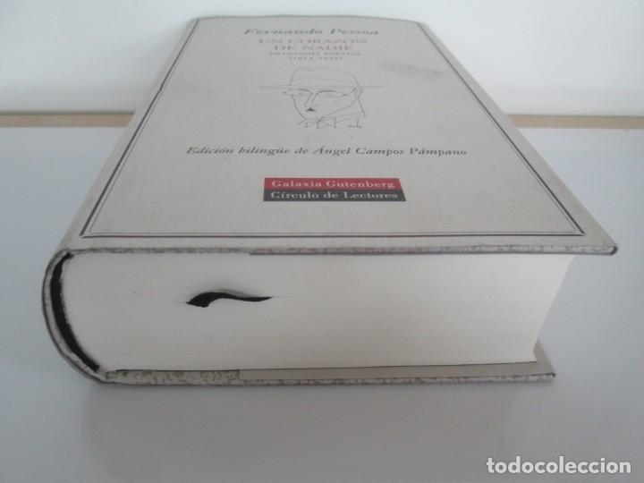Libros de segunda mano: FERNANDO PESSOA. UN CORAZON DE NADIE.ANTOLOGIA POETICA .CIRCULO DE LECTORES. 2001 - Foto 3 - 194221116
