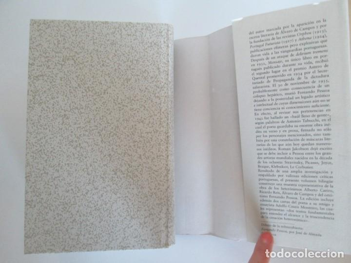 Libros de segunda mano: FERNANDO PESSOA. UN CORAZON DE NADIE.ANTOLOGIA POETICA .CIRCULO DE LECTORES. 2001 - Foto 13 - 194221116