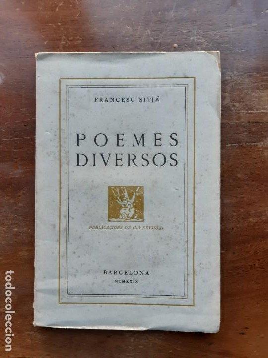 FRANCESC SITJA POEMES DIVERSOS (Libros de Segunda Mano (posteriores a 1936) - Literatura - Poesía)