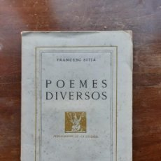 Libros de segunda mano: FRANCESC SITJA POEMES DIVERSOS. Lote 194226373