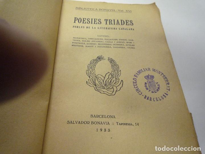 Libros de segunda mano: POESIES TRIADES - Foto 2 - 194326577