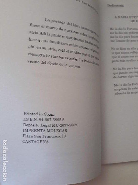 Libros de segunda mano: La Historia del Barrio de la Concepcion y su litigio Quitapellejos. Imp. Molegar. Cartagena. 2002 - Foto 3 - 194351336