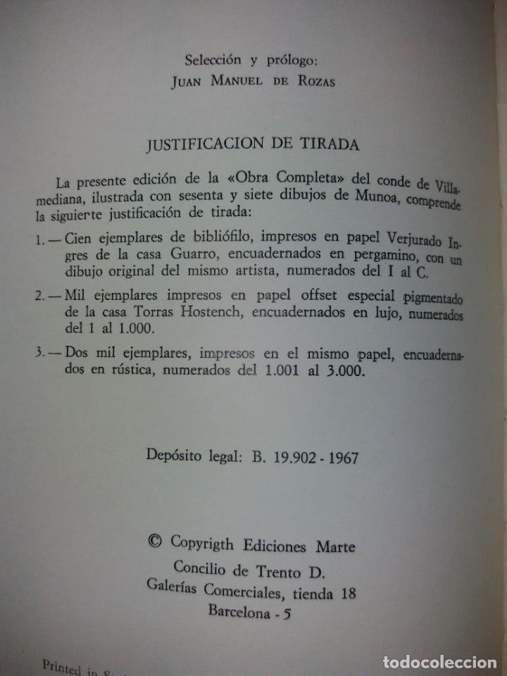 Libros de segunda mano: EXCEPCIONAL CONDE DE VILLAMEDIANA BIBLIOFILOS ILUSTRADO POR MUNOA - Foto 40 - 194356985