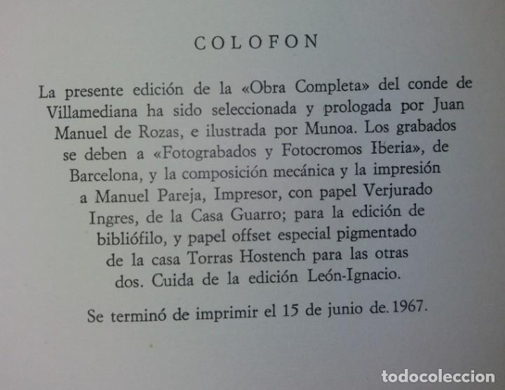 Libros de segunda mano: EXCEPCIONAL CONDE DE VILLAMEDIANA BIBLIOFILOS ILUSTRADO POR MUNOA - Foto 49 - 194356985