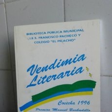 Libros de segunda mano: VENDIMIA LITERARIA, COSECHA 1996, BIBLIOTEC PÚBLICA MUNICIPAL. Lote 195045666