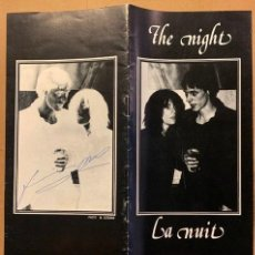 Libros de segunda mano: PATTI SMITH, TOM VERLAINE. THE NIGHT LA NUIT, 1976. FIRMADO. Lote 195092566