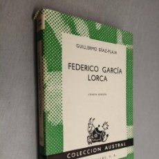 Libros de segunda mano: FEDERICO GARCÍA LORCA / GUILLERMO DÍAZ-PLAJA / AUSTRAL - ESPASA CALPE 1968. Lote 195185272
