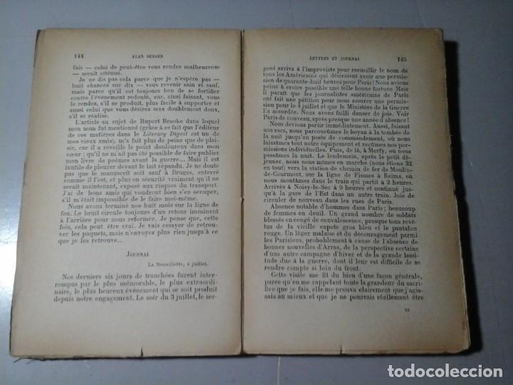 Libros de segunda mano: ALAN SEEGER. LE POÉTE DE LA LÉGION ÉTRANGERE. 1ª EDICIÓN FRANCESA 1918.POESÍA.GRAN GUERRA. MUY RARO. - Foto 4 - 195439526
