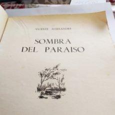 Libros de segunda mano: SOMBRA DEL PARAISO;,VICENTE ALEXADRE.. Lote 196195186